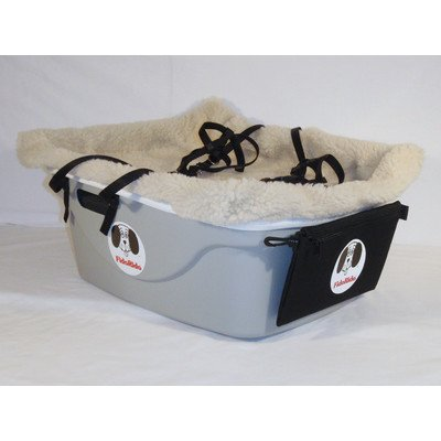 1 Seater Dog Car Seat Finish: Gray, Harness Size: Medium, Lining Color: Sherpa Beige by FidoRido