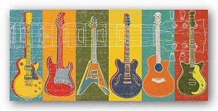 Diseño moderno toalla de playa (guitarra música rock y Roll 27 x 54 pulgadas