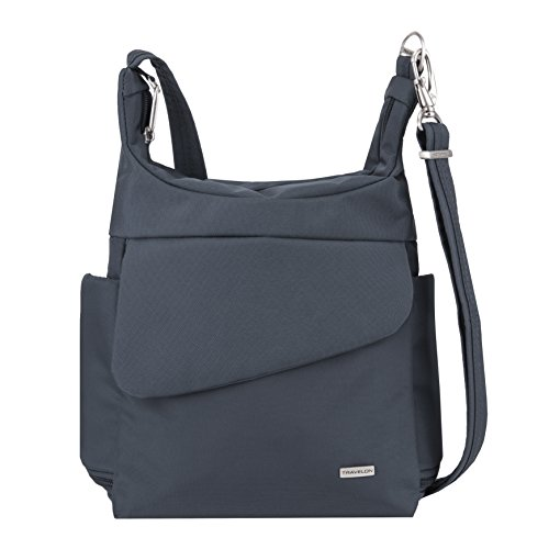 Travelon Anti-Theft Classic Messenger Bag - Exclusive Colors (New Navy- Exclusive Color) (Color Messenger Bag)