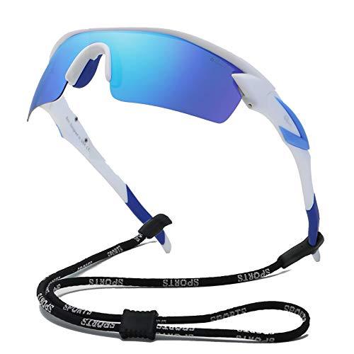 Bevi Polarized Sports Sunglasses TR90 Unbreakable Frame for Men Women Running Cycling Glasses TPH2C3 (Polarized Sports Sunglasses With Tr90 Unbreakable Frame)