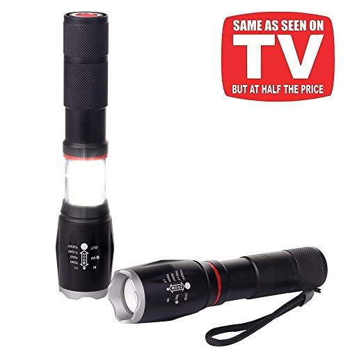 ChaseLight Taclight Pro Lantern Flashlight in 1 with Zoom, Magnetic Base (Pack 2)