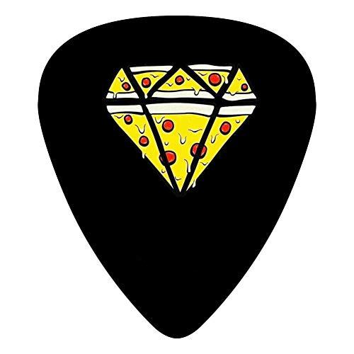 Black Diamond Electric Bass - Diamonds Pizza 351 Shape Medium Classic Celluloid Picks, 12-Pack, For Electric Guitar, Acoustic Guitar, Mandolin, And Bass