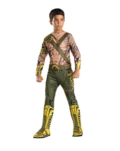 [Rubie's Costume Batman v Superman: Dawn of Justice Aquaman Child Value Costume, Medium] (Aquaman Costume For Kids)