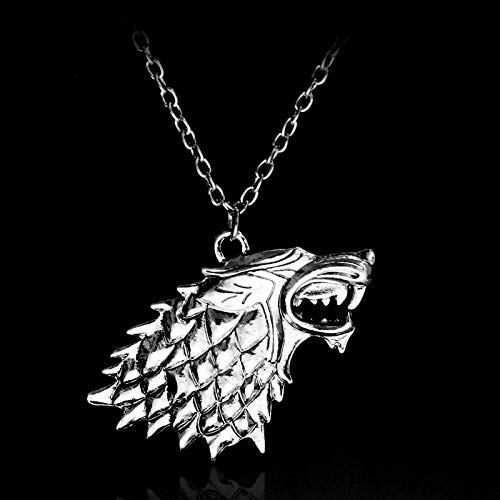 Necklaces & Pendants Game of Thrones Necklace Song of Ice and Fire Vintage Stark Dire Wolf Antique Silver Pendant for Men and Women