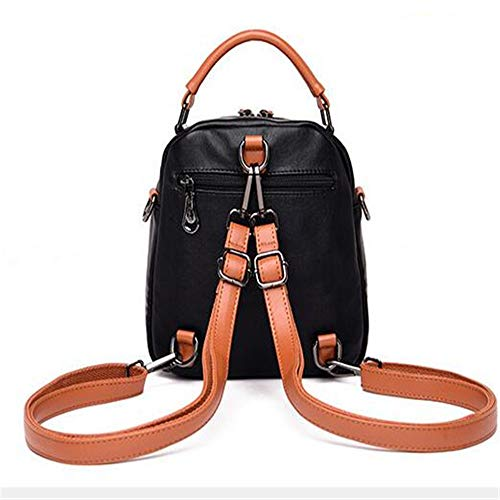 Collision A Backpack Color Wild Bolso Fashion Hombro De De LANGUANGLIN Trend Cuero E q7Egtxnwpp