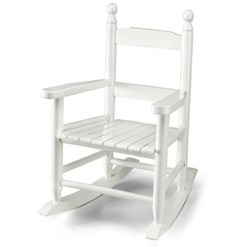 Childrens Solid Wood Rocking Chair, White