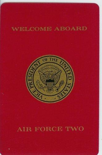 Air Force Memorabilia (1980's Air Force Two Vice Presidential Playing Card (George H.W. Bush - Ronald Reagan Presidency))