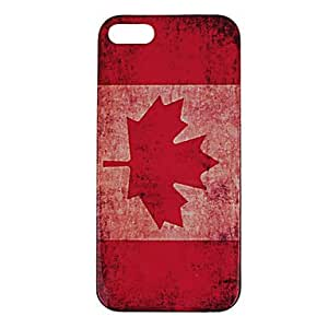 TY Retro Style Canadian Flag Pattern Plastic Hard Case Cover for iPhone 5/5S