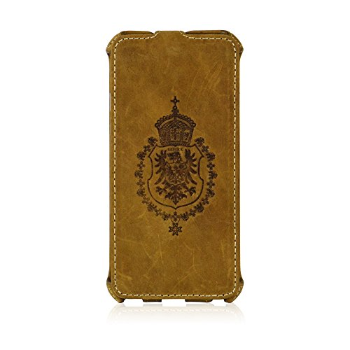 MANNA UltraSlim iPhone 6 4.7' Flip Case Protective Cover Wallet | Genuine Nubuck Leather | Brown