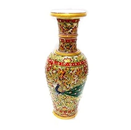 Amazon Com Indian Handicrafts Export Traditional Marbles Vases Made