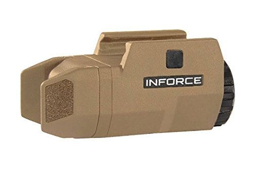 InForce APLc Compact WML Weapon Mounted White Light Auto Pistol 200 Lumens Flat Dark Earth AC‑06‑1
