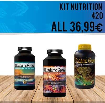 MADAME GROW / Kit Nutricional para tú Planta para Marihuana o Cannabis/Nutrientes Premium/Alimento y Energía para el Suelo