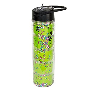 MSC MAINSTREET COLLECTION Confetti Water Bottle (Lime Stripes)