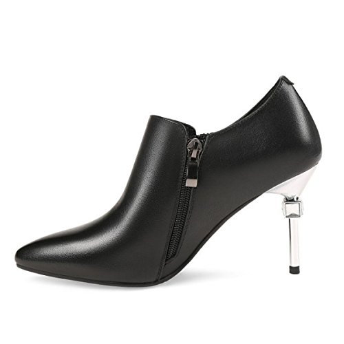 Kleid High Plattform Schwarz Stiletto Spitz Frauen Schuhe Closed Pumpen Hochzeit Toe Damen Heels A6HWFqc