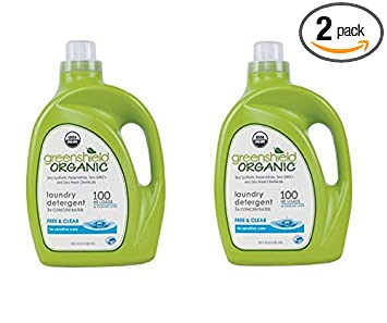 Green Shield Organic - USDA Certified Free and Clear Laundry Detergent - 100 oz. Pack of 2