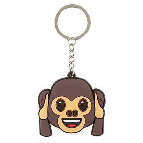 Comansi keychain Ears Monkey 10 cm brown