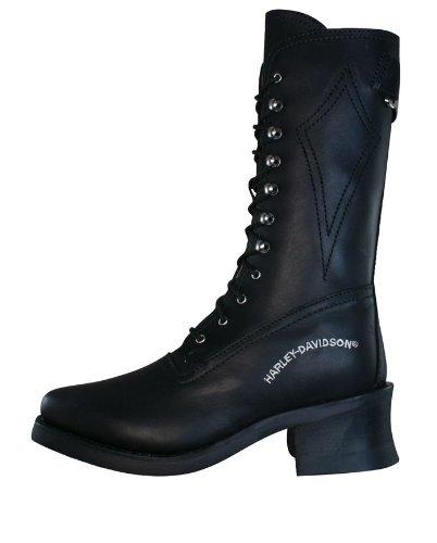 Harley Cuir Femmes Babydoll Boots Davidson Noir Biker OPZuXTki