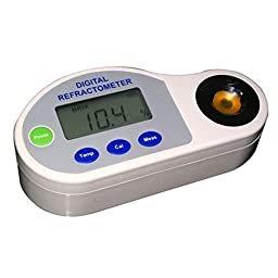 BDJK Handheld Digital Brix Refractometers 0~35% Measuring Range Including AAA Battery