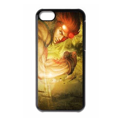 Street Fighter X Tekken Fighter Rain Look Glasses coque iPhone 5c cellulaire cas coque de téléphone cas téléphone cellulaire noir couvercle EEECBCAAN04151