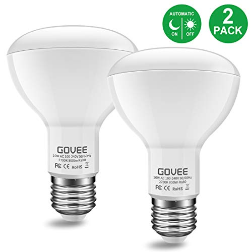 Minger 10W Dusk to Dawn BR30 LED Bulb Light, Auto Turn On Off, 60W Equivalent, 800 Lumens Soft White 2700K, E27 Base, 120°Beam Angle Spotlight, for Indoor and Outdoor 2 - 38 Special Safety Glasses