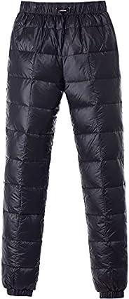 Tapasimme Men's Winter Warm Loose Utility Down Pants Sassy High Waisted Nylon Compression Snow Trou