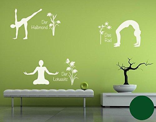 Klebefieber Wandtattoo Yoga Figuren Set 4 B x x x H  110cm x 170cm Farbe  Creme B0711D92ZR Wandtattoos & Wandbilder 839445