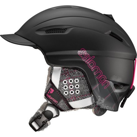 Salomon Poison Ski Helmet (Black Matt, Small), Outdoor Stuffs