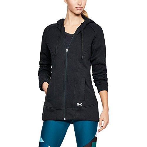 Under Armour Women's Wintersweet Full Zip Hoodie, Black/Glacier Gray, Medium