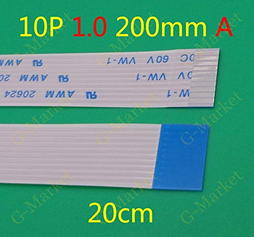 Gimax 100X NEW FFC FPC Flexible Flat Cable Forward 10 pin 10PIN Length 200mm 1mm Pitch ribbon cable 1.0-10P-200mm