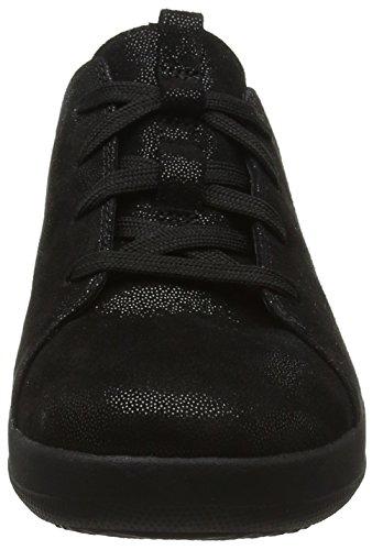 F Black Donna Nero 403 Sneaker Fitflop Laceup Glimmer Sporty RUd1d