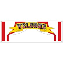 Beistle 57515 Welcome Sign Banner, 5-Feet by 21-Inch