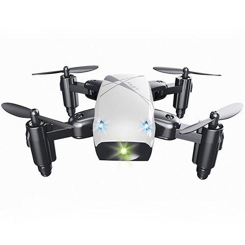 ドローン カメラ付き 小型 (ホワイト) S9 Mini Foldable Drone 送信機付き 安定 ミニドローン かわいい ラジコン おもちゃ 空撮 自撮り