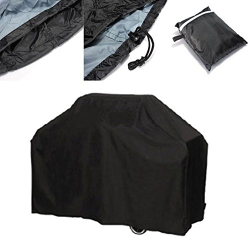 Asolaba Heavy Duty BBQ Cover Barbecue Cover with Waterproof Dustproof Durable Fabric Extra Large Size (66.93×24.02×46.06in) (Black)