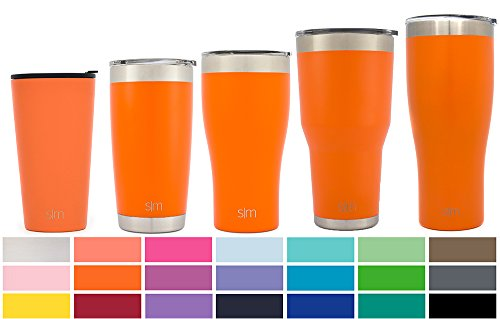 Simple Modern Pint 16oz Tumbler - Vacuum Insulated Double-Walled 18/8 Stainless Steel Hydro Travel Mug - Coffee Cup Flask - Autumn Orange