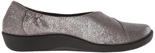 de Metallic Sillian Synthetic Clarks Silver soporte Jetay cloudsteppers mujer qSwT4U