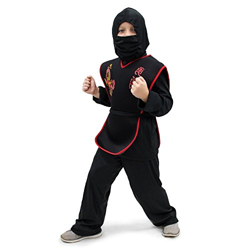 Sneaky Ninja Children's Halloween Dress Up Theme Party Roleplay & Cosplay Costume, Unisex (S, M, L, XL) by Boo! Inc. (Youth Large (7-9))