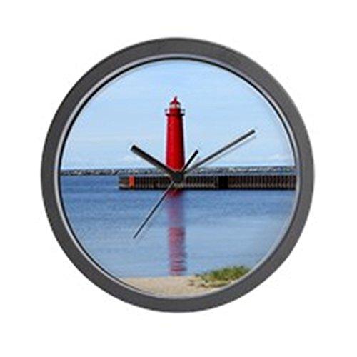 (CafePress - Muskegon Lighthouse Wall Clock - Unique Decorative 10
