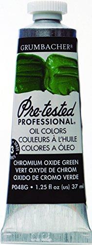 Grumbacher Pre-Tested Oil Paint, 37ml/1.25 Ounce, Chrome Oxide Green (Opaque) (P048G) - Chrome Oxide Green