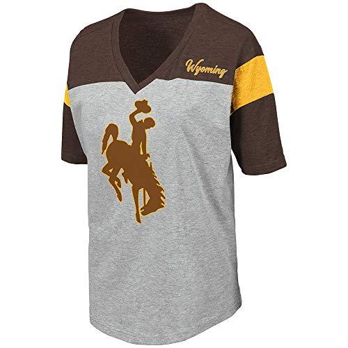 Womens Wyoming Cowboys Genoa Short Sleeve Tee Shirt - L