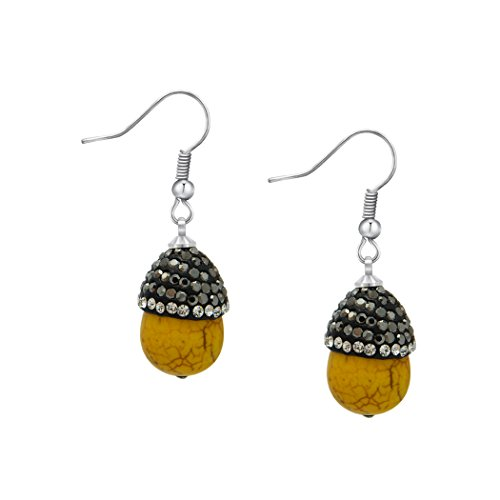 - ART KIM Handmade Glued on Diamond Edisonite Candy Dangle Earring (yellow)