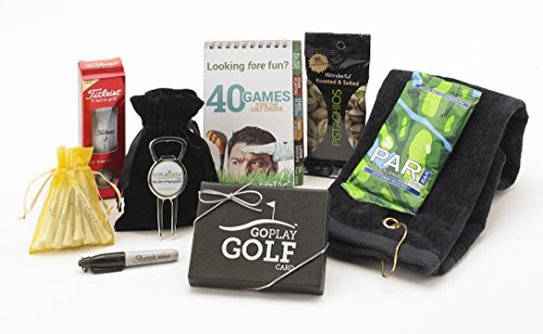 Go Play Golf Essentials II-25 Gift Basket for Men and Women