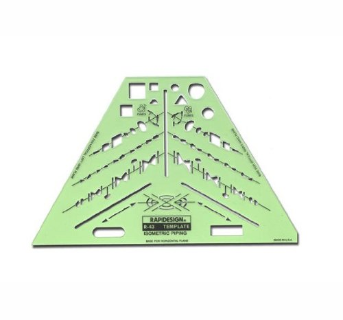 rapidesign isometric piping template 1 each r43 calipers