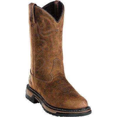 Wellington Rocky Mens (Rocky 11in. Branson Roper Waterproof Wellington Boot - Brown, Size 10, Model# 2733)