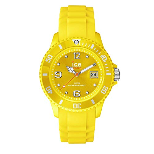 Ice-Watch Unisex SI.YW.U.S.09 Sili Collection Yellow Plastic and Silicone Watch (Yellow Womens Dial)