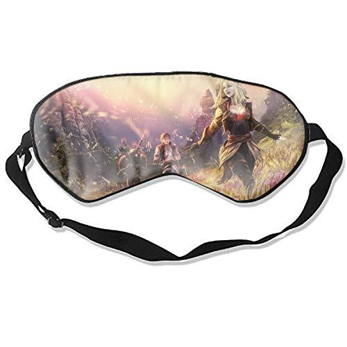 Natural Silk Sleep Mask, Blindfold, Super Smooth Eye Mask Fantasy People Landscape Field Women Blonde Warrior Men]()