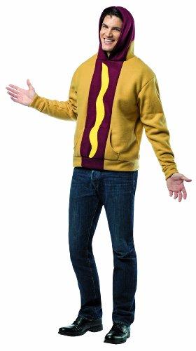 [Rasta Imposta Hot Dog Hoodie, Tan/Multi, Large] (Hot Dog Baby Costumes)