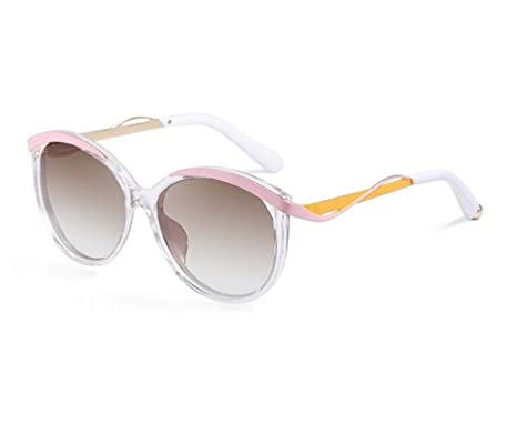 c67e5520fe Image Unavailable. Image not available for. Color  TELAM Clear-pink-yellow  Metaleyes1 Butterfly Sunglasses Lens