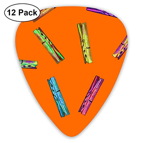 Orange Clip For Clothes Hanger Small Medium Large 0.46 0.73 0.96mm Mini Flex Assortment Plastic Top Classic Rock Electric Acoustic Guitar Pick Accessories Variety Pack