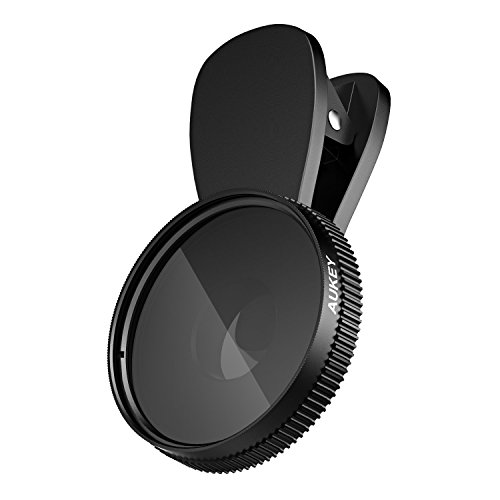 AUKEY iPhone Camera Lens, 37mm Circular Polarizer Clip-on iPhone Lens for Samsung, Android Smartphones, iPhone 8 / 7 and more