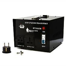 Rockstone Power 3000 Watt 5V USB Port Heavy Duty Step Up/Down Voltage Transformer Converter